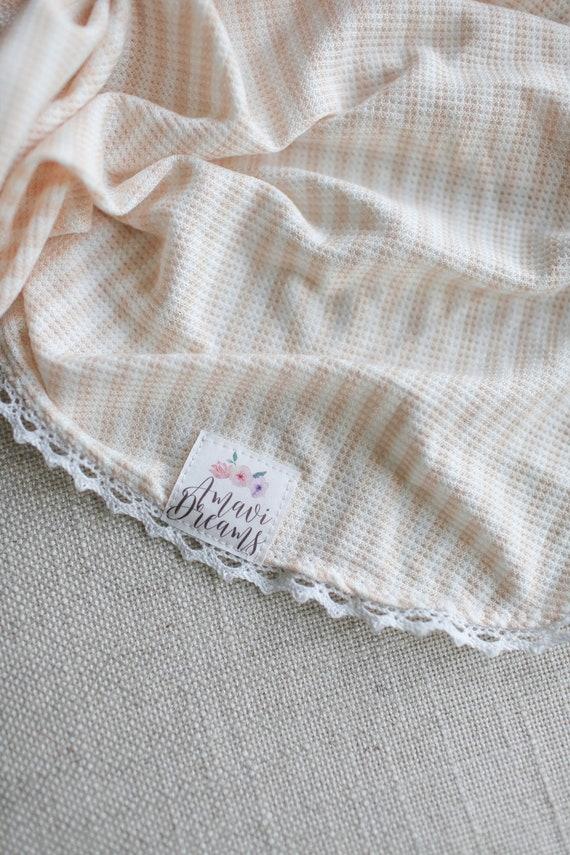 Cream Stripe Thermal Knit