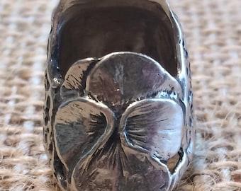 Pansy Thimble Open Nail Sewing Thimble by TJ Lane