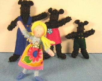 Goldilocks & the Three Bears Storybook Doll set