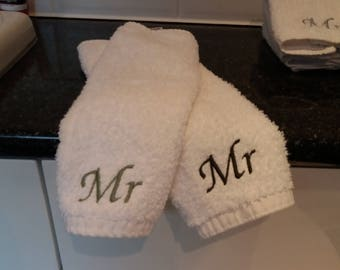 personalised wash cloths