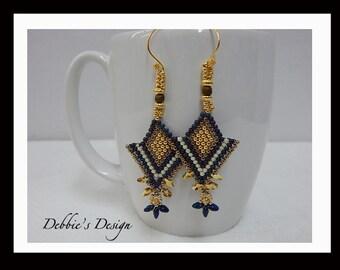 Women's Hand Beaded Dangle Earrings-475 Women's Earrings, Gifts, Jewelry, Beadwork, Beaded, Dangle, Women's Jewelry, Jewelry Accessories