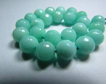 Set of 5 8 mm faceted Jade beads