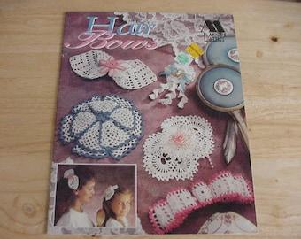 Vintage 1992 Crochet Hair Bows, Annie's Attic, 10 Designs by Hazel Henry