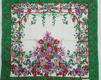"Jim Thompson Floral silk scarf 33"" x 33"""