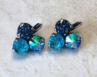 Mermaid Kisses Crystal Earrings