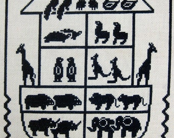 Noah's Ark Cross Stitch Digital Pattern