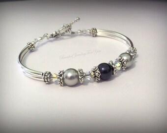Bridesmaid Gift Set of SEVEN: Bridesmaid Pearl Bracelet, Pearl Wedding Jewelry, Wedding Bridal Jewelry, Wedding Party, Jewelry Bridesmaid