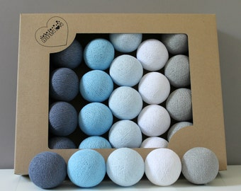 Cotton Balls Blue Wind 10 items