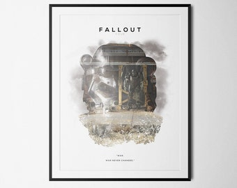 Fallout 4 Inspired Double Exposure Poster Print - Video Game Art