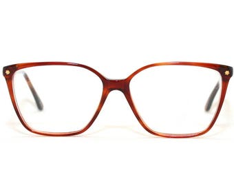 Lozza Eyeglasses Violet 80's New Old Stock 1980's Frame Italy Size 55-14-135 Color 008 Brown Gold