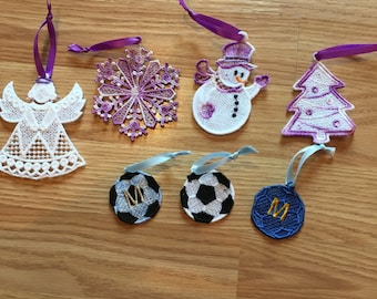 Lace Christmas Ornaments