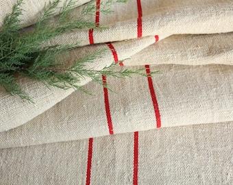 RP 822 rouleau de chanvre ancien lin tissu rouge fraise 11,25 yards décoration de mariage lin 19.69wide, vintage, faites-le vous-même, décoration, printemps