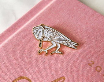 Barn Owl- Soft Enamel Lapel Pin Bird Collectible Art Jewelry