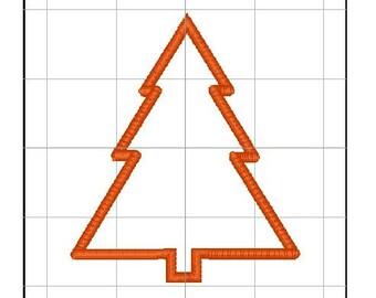 Pine tree applique 4x4, 5x7, and 6x10