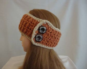 Winter Headband - Orange Winter Headband - Womens Winter Headband - Womens Ear Warmer - Orange Ear Warmer - Harvest Orange Headband