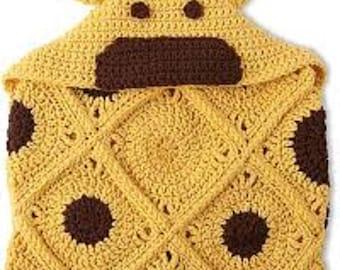 Hooded Giraffe Blanket *PDF