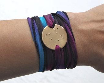 Brass Libra Bracelet, Libra Jewelry, September Birthday, Constellation Jewelry, Zodiac Jewelry, Wrap Bracelet, Zodiac Bracelet, Star Gazer