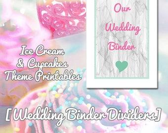 Printable Wedding Binder Dividers - printable, wedding, organization, binder, pdf, planner binder, wedding planner, wedding printables