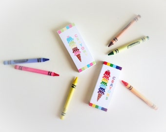 50% Off Sale! - PRINTABLE Ice Cream Party Crayon Box by Daysigns by Day