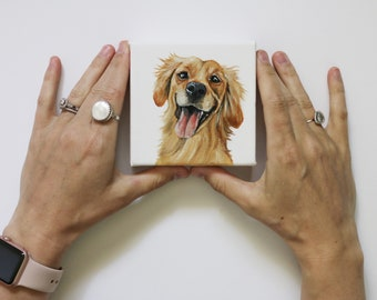 Mini Pet Portrait, pet painting, mini pet painting, small pet portrait, small pet painting, pet painting custom, custom pet portrait, dogs