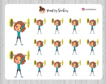 Weightlifting Stickers, Fitness Stickers, Stacy Stickers