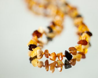 Organic amber teething necklace - Baby necklace - Teething necklace from amber - baby shower gift - baltic amber necklace