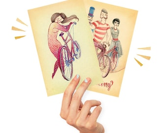 Bicycle postcards - special price!