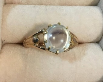Antique Moonstone Ring- 9k gold - Wedding Jewelry