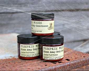 PUMPKIN WOODS - Limited Edition - Rinse Away Body Conditioner - Shower Body Cream - 2 Oz