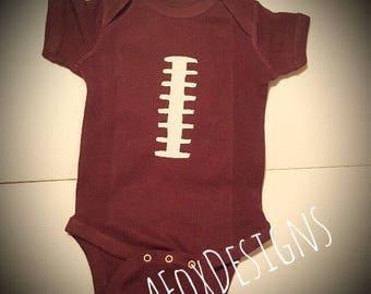 Football jersey onesie