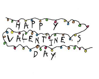 Stranger Things Valentine's card