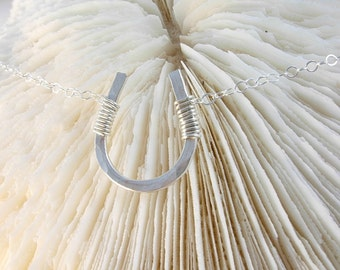 Horseshoe Necklace - Lucky Horseshoe Necklace - Lucky Charm Necklace