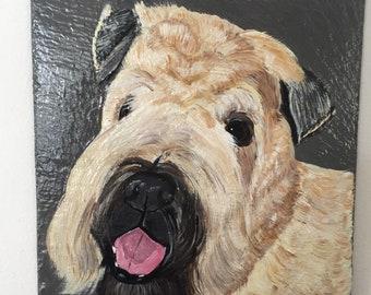 Wheaten Terrier Welcome Slate