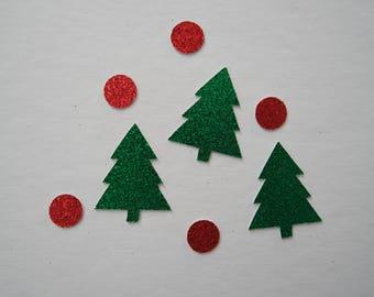 Glitter Christmas Tree & Dot Confetti | Custom Made | Party Confetti | Christmas Table Decor