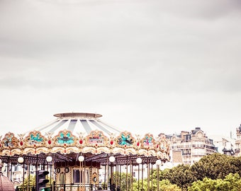 bedroom wall decor over the bed carousel horse print paris photography gift for her nursery decor girl nursery prints bedroom decor woman