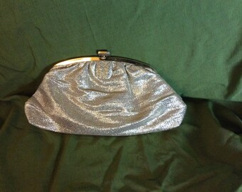 Vintage 60's Gold Lame Evening Bag Clutch