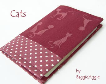 Ladies' Passport Cover, Pink Passport Holder, Polka Dots Passport Wallet, UK Passport Covers for Women, Gift for Travellers, Cat Gifts.
