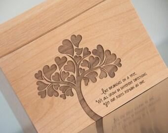 Personalized Recipe Box - Family Tree