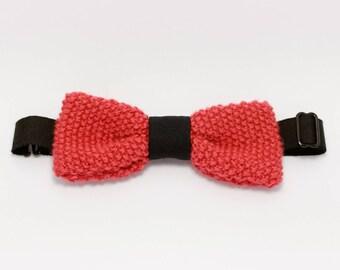 """Bow tie pink wool """"Semillante raspberry"""""""