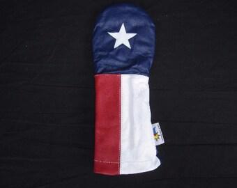 USA Lonestar Leather Driver Golf Headcover -Texas Design