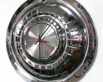 1955 Plymouth Hub Cap Clock - 55 Belvedere Savoy Plaza Hubcap - Unique Men's Wall Decor