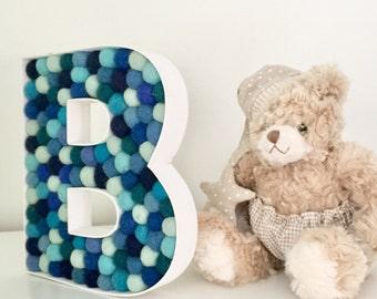 SALE Blue Nursery Letter B
