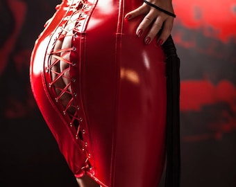 High quality erotic photography print on canvas - female domination / latex