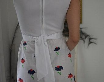 50's Long Floral Dress