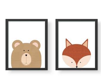 Bear & Fox Friends Set