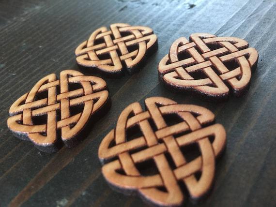 "Set of 4, 1"" Celtic Knot buttons"