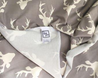 Swaddle Blanket / Deer Blanket, Receiving Blanket, Boy Baby Gift, Nursing Cover, Swaddle Blanket, Baby Blanket, Deer Baby Bedding