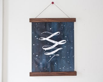 Magnetic Poster Holder - Walnut Artwork Print Hanger Wooden Poster Wall Hanging Floating Frame Canvas Handmade