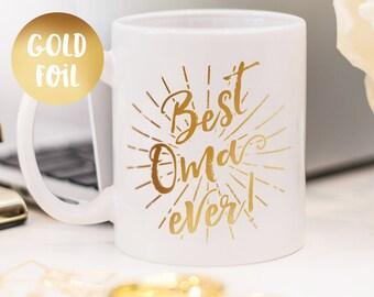 Oma mug, gold foil mug customized gift for your oma