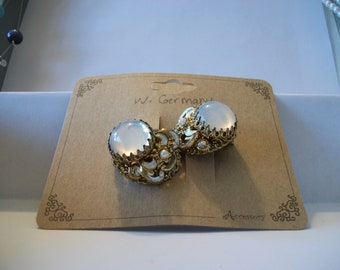 Vintage W. Germany Signed clip on earrings